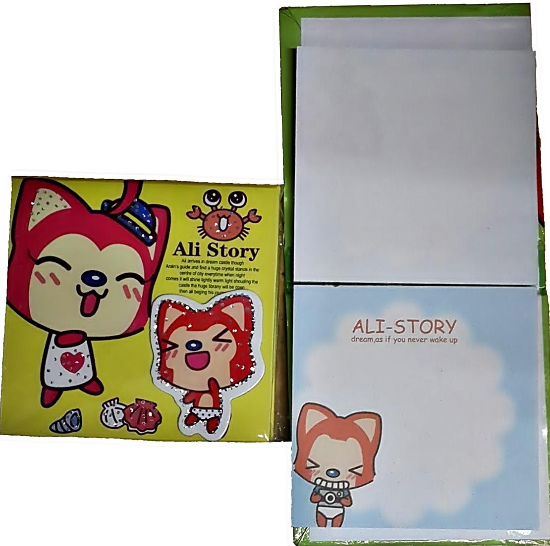 блокнотики 8*8см          ALI STORY                       обложка с вырубко