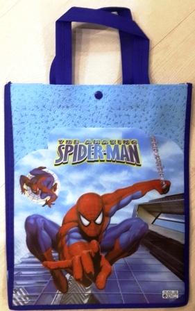 сумка  Spider-man          с кармашком  р-р 35*28см закрывается на кнопкуLD