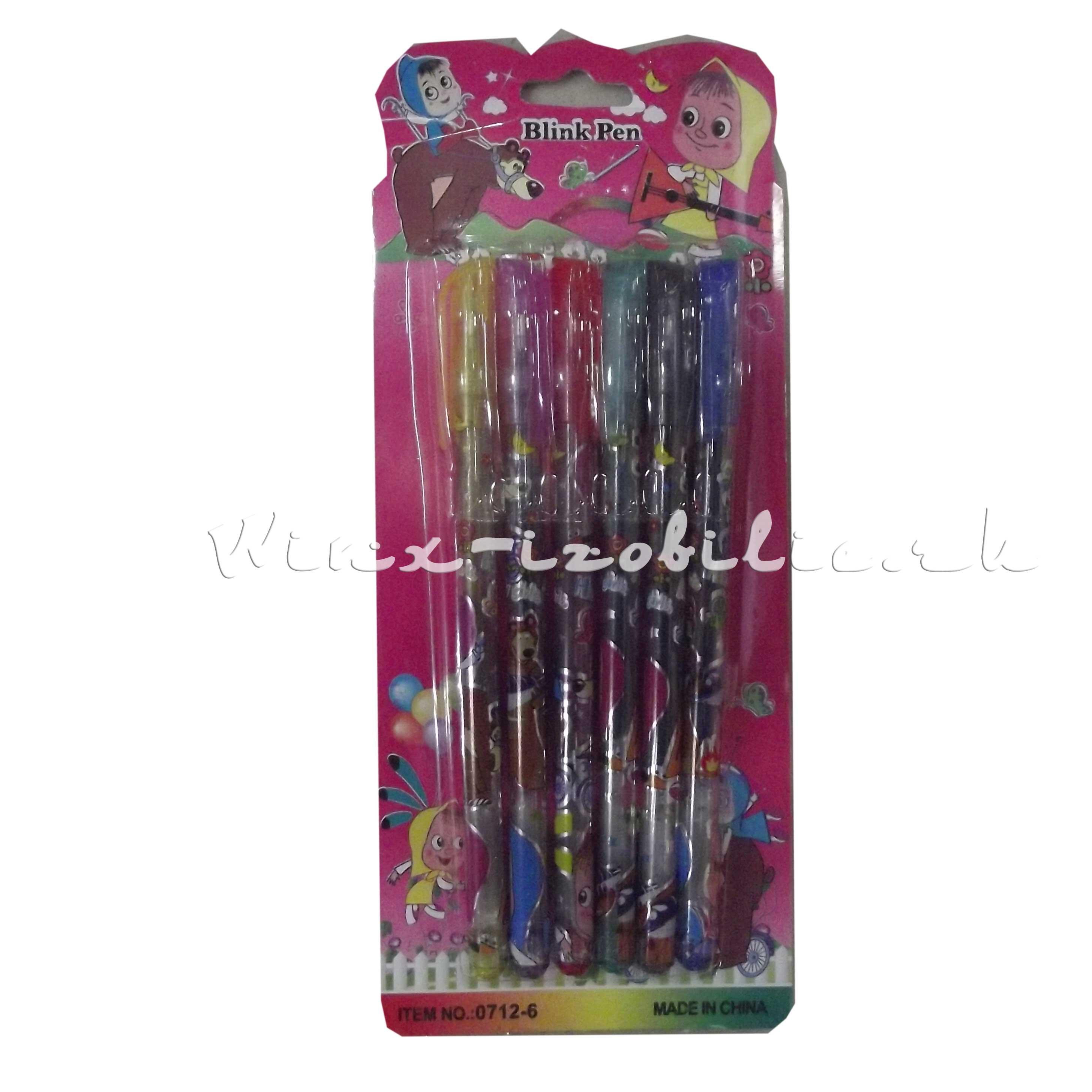 ручки гелевые на блистере